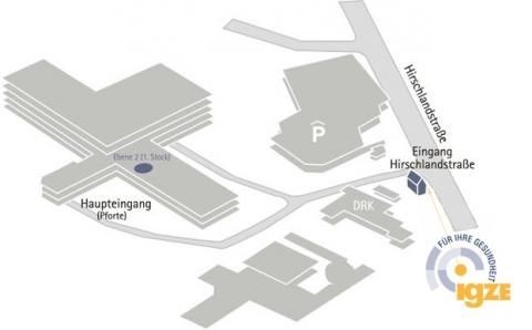 Lageplan des IGZE in Esslingen